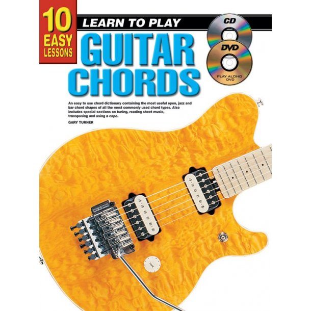 10 Easy Lessons Chords Gtr Bk/Cd/Dvd