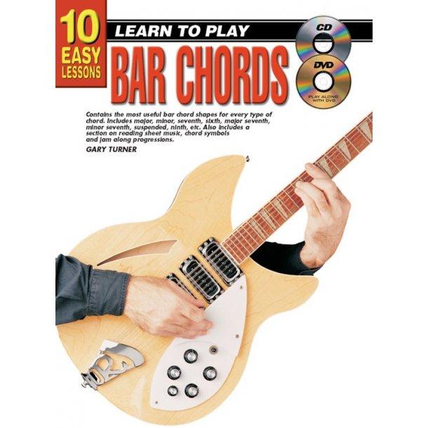 10 Easy Lssns Br Chrds Gtr Bk/Cd/Dvd