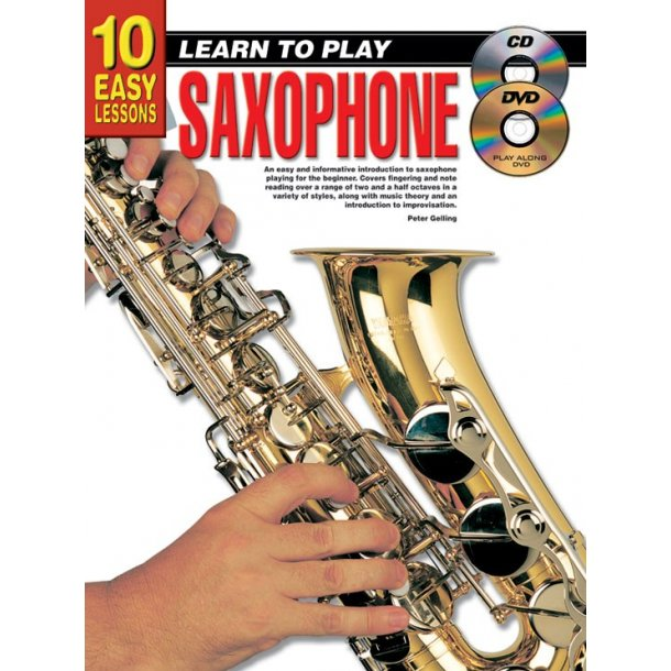 10 Easy Lessons Ltp Sax Bk/Cd/Dvd
