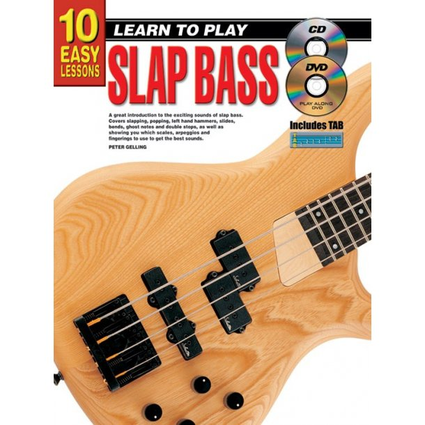 10 Easy Lessons Slap Bass Bk/Cd/Dvd