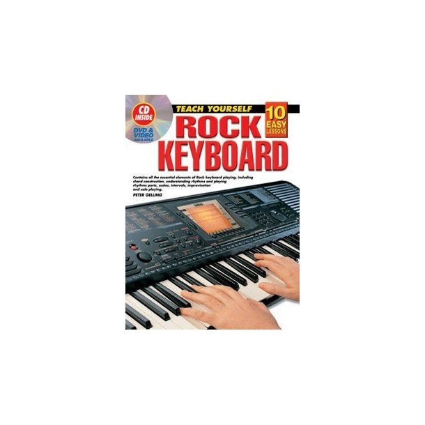 10 Easy Lessons: Rock Keyboard (Book/CD)