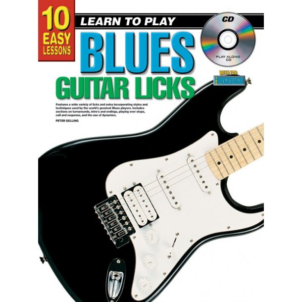 10 Easy Lessns Blues Licks Gtr Bk/Cd