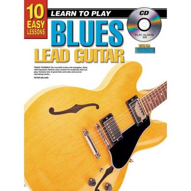 10 Easy Lessons Blues Lead Gtr Bk/Cd