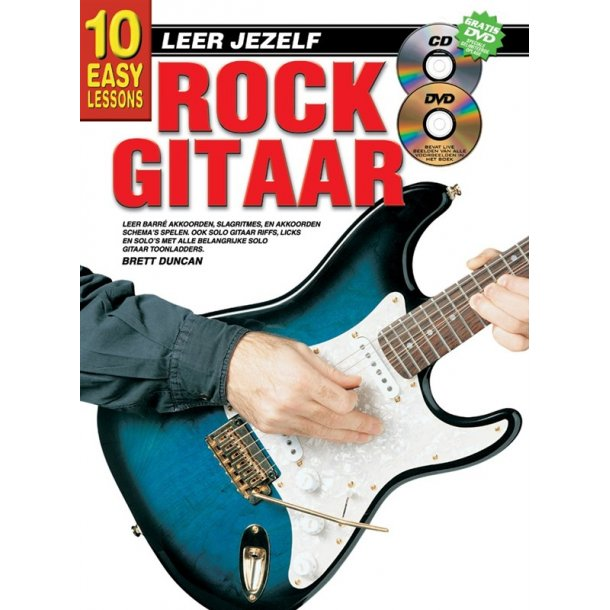 10 Easy Lessons Leer Jezelf Rock Gitaar Book/Cd/Dvd Dutch