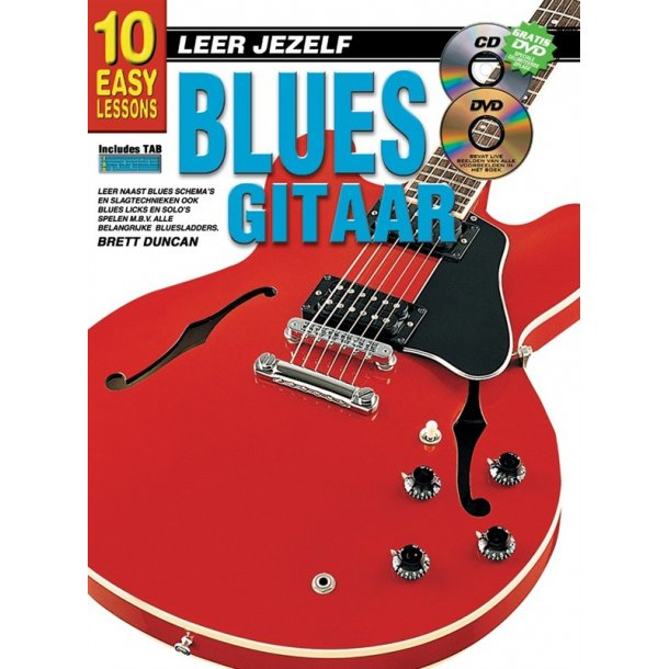 10 Easy Lessons Leer Jezelf Blues Gitaar Book/Cd/Dvd Dutch