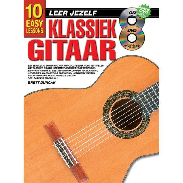 10 Easy Lessons Leer Jezelf Klassiek Gitaar Book/Cd/Dvd Dutch
