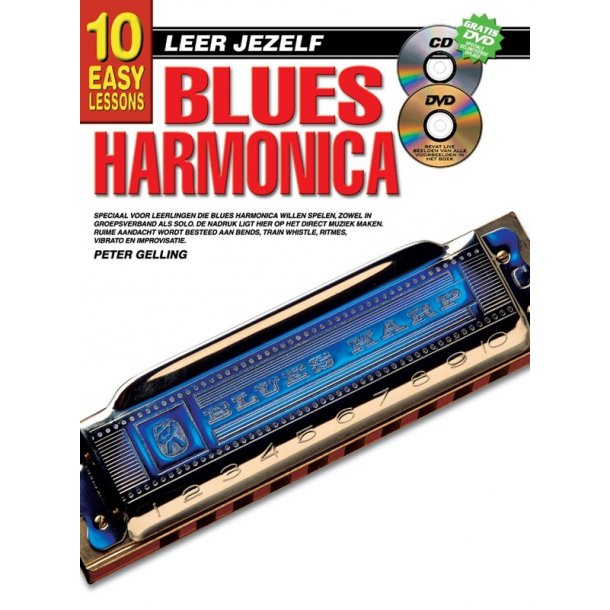 10 Easy Lessons Leer Jezelf Blues Harmonica Book/Cd/Dvd Dutch