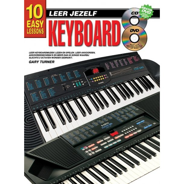 10 Easy Lessons Leer Jezelf Keyboard Book/Cd/Dvd Dutch