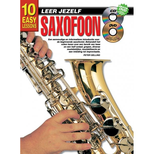 10 Easy Lessons Leer Jezelf Saxophone Book/Cd/Dvd Dutch