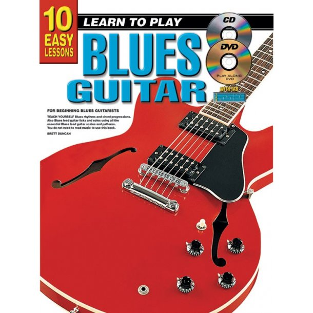 10 Easy Lessons Blues Gtr Bk/Cd/Dvd