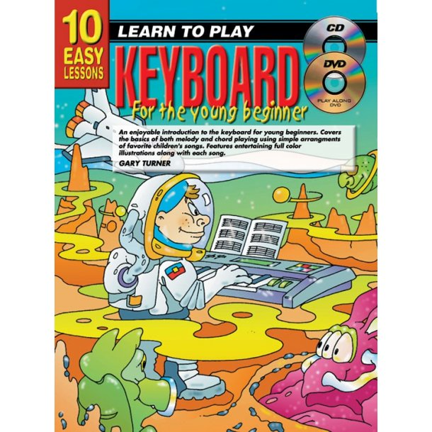 10 Easy Lessons: Teach Yourself Keyboard For The Young Beginner (Book/CD/DVD)