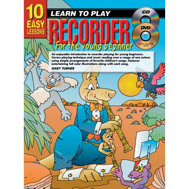 10 Easy Lessns Yng Beg Rec Bk/Cd/Dvd
