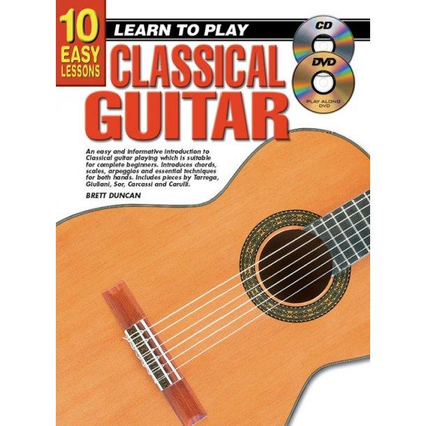 10 Easy Lessons Class Gtr Bk/Cd/Dvd
