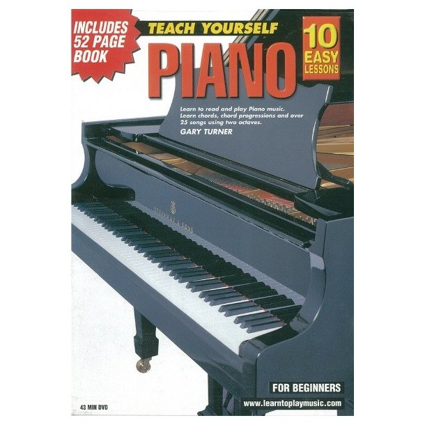 10 Easy Lessons Teach Yourself Piano Dvd With Small Booklet