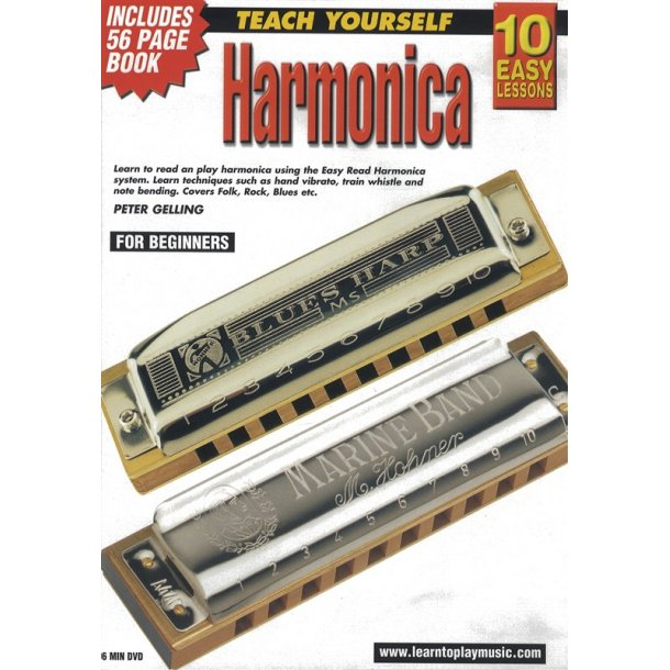 10 Easy Lessons: Teach Yourself Harmonica (DVD With Small Booklet)