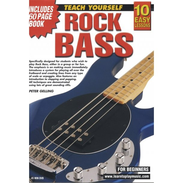 10 Easy Lessons: Teach Yourself Rock Bass (DVD With Small Booklet)