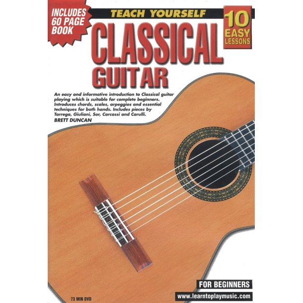 10 Easy Lessons: Teach Yourself Classical Guitar (DVD With Small Booklet)