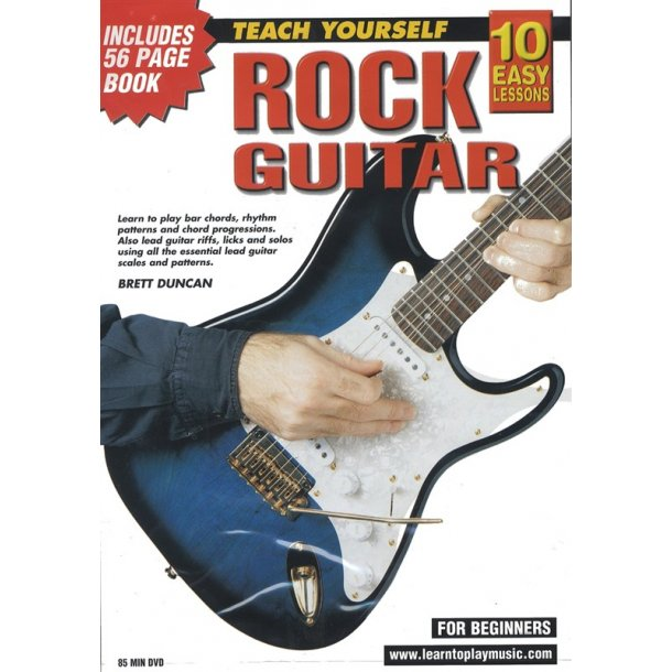 10 Easy Lessons: Teach Yourself Rock Guitar (DVD With Small Booklet)