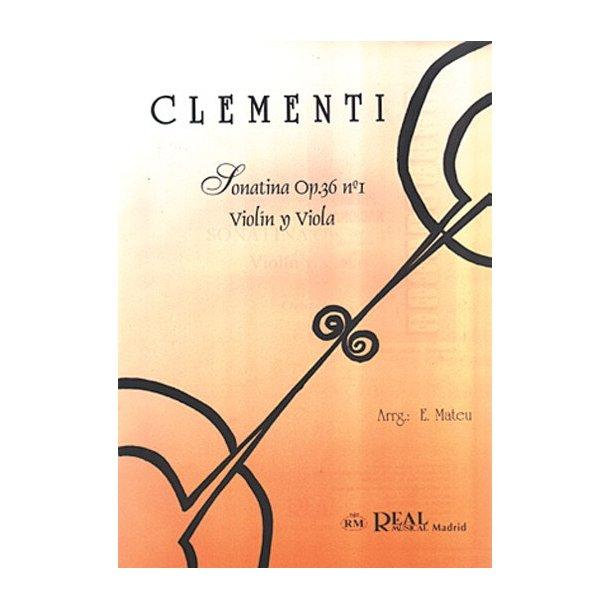 Muzio Clementi: Sonatina Op.36 No.1, para Violín y Viola