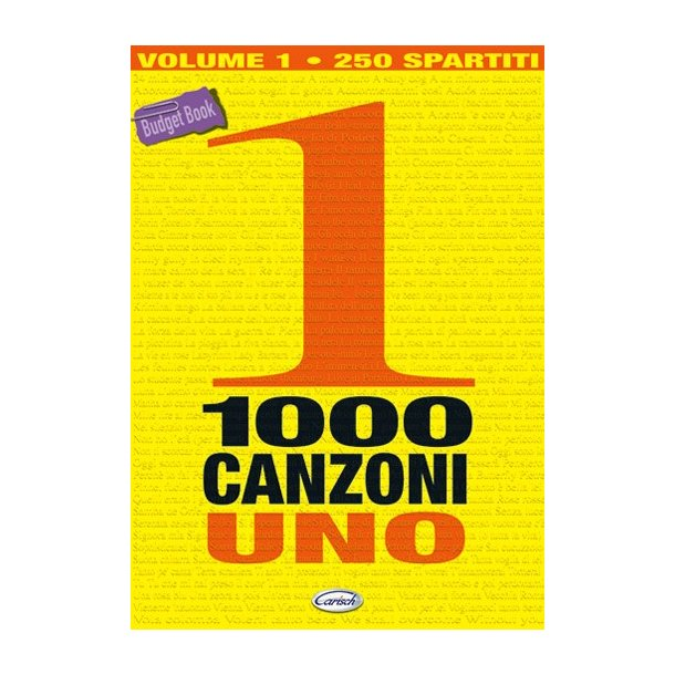 1000 Canzoni, Volume 1 (250 spartiti)