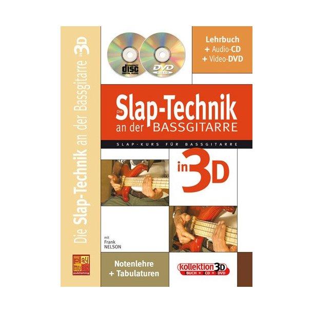 NELSON FRANK SLAPTECHNIK BASS GTR 3D BK/CD BK/DVD