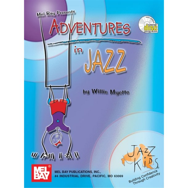 MYETTE WILLIE ADVENTURES IN JAZZ PIANO SOLO BOOK/CD
