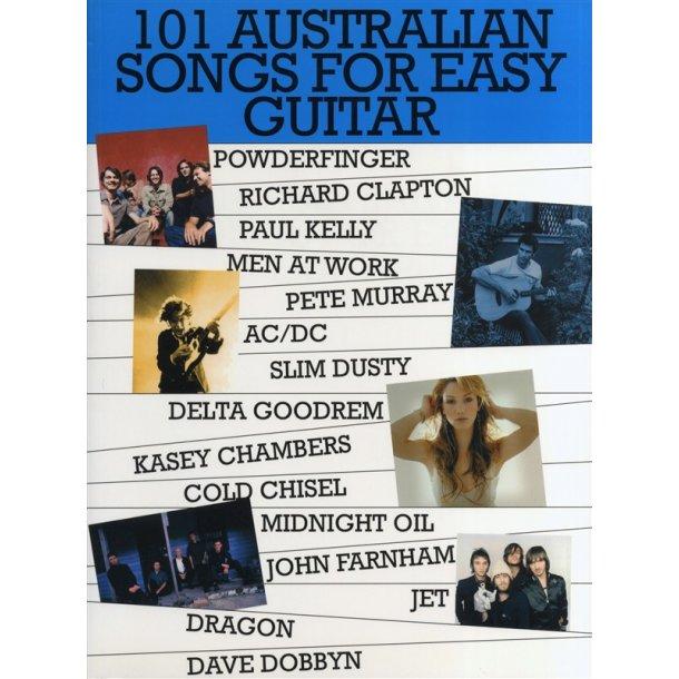 101 Australian Songs For Easy Guitar Volume 1