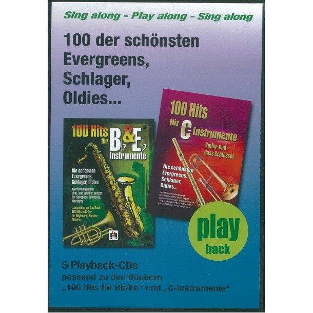 100 Hits Für Bb- & Eb-Instrumente Band 1 (5 Playback-CDs)
