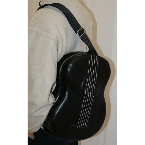 Musicwear: Acoustic-Style Shoulder Bag With Built In Rechargable Speaker (Black)