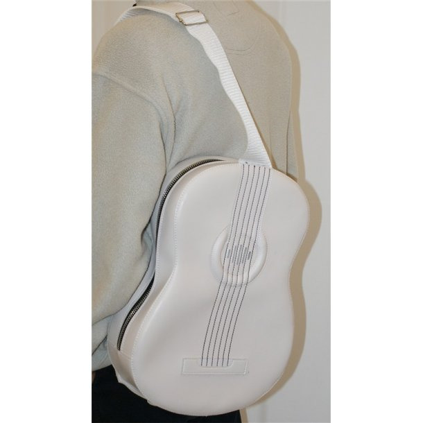 Musicwear: Acoustic-Style Shoulder Bag With Built In Rechargable Speaker (White)