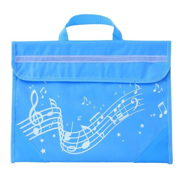 Musicwear: Wavy Stave Music Bag (Light Blue)