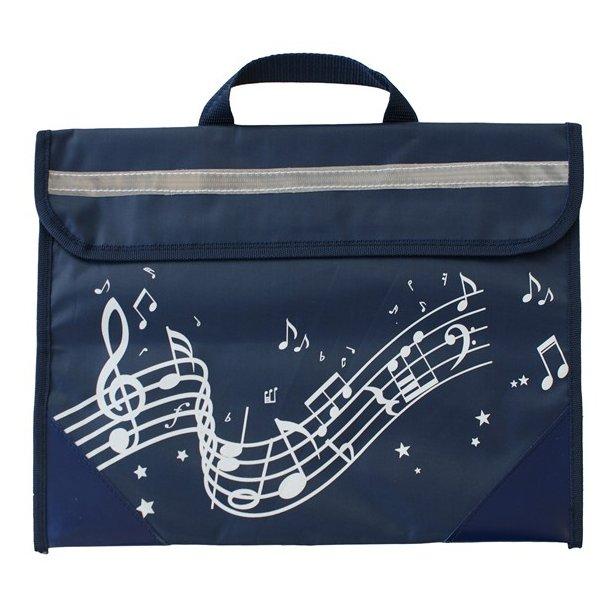 Musicwear: Wavy Stave Music Bag (Navy Blue)