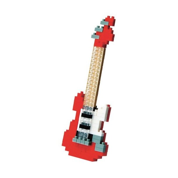 Nanoblock: Electric Guitar - Red