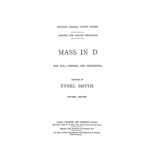 Ethel Smyth: Mass In D (Vocal Score)