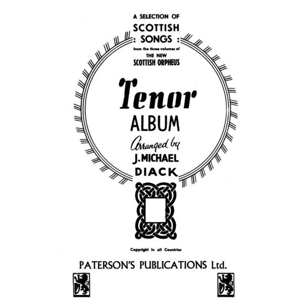 New Scottish Orpheus Tenor And Piano