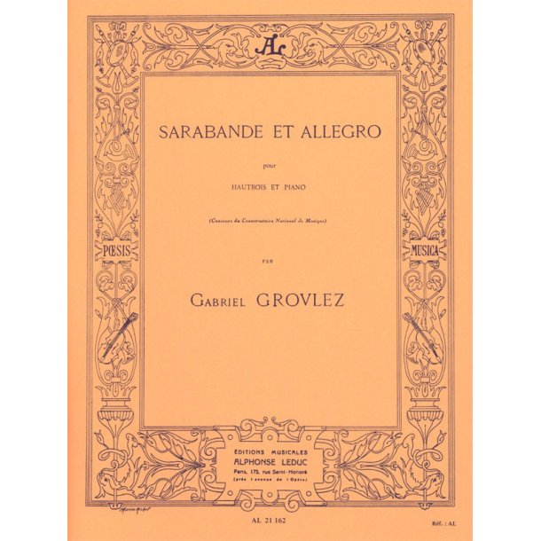 Gabriel Grovlez: Sarabande Et Allegro (Oboe)