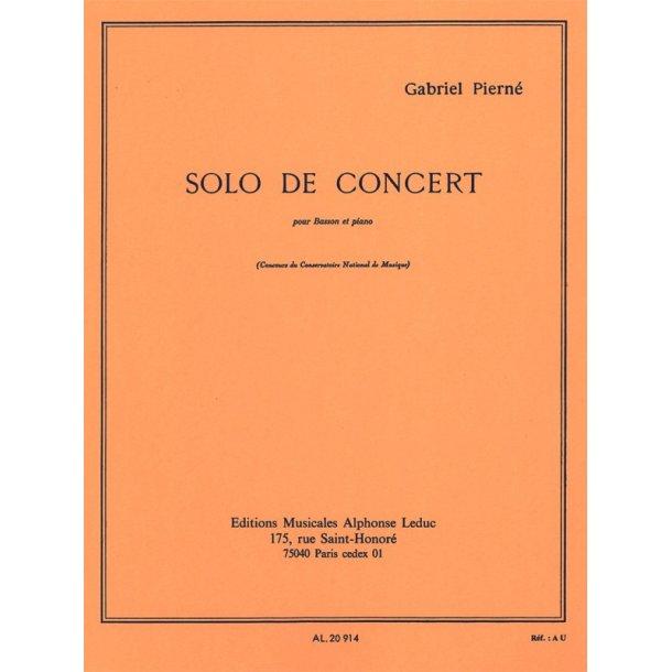 Gabriel Pierné: Solo De Concert Op.35 (Bassoon/Piano)