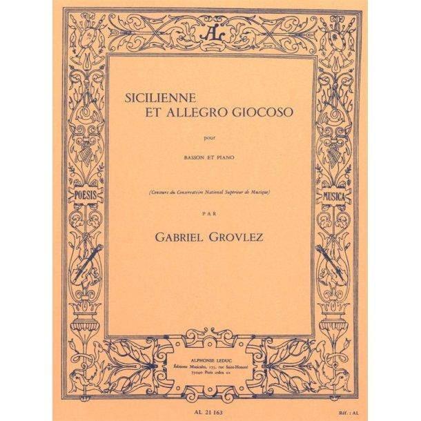 Gabriel Grovlez: Sicilienne Et Allegro Giocoso