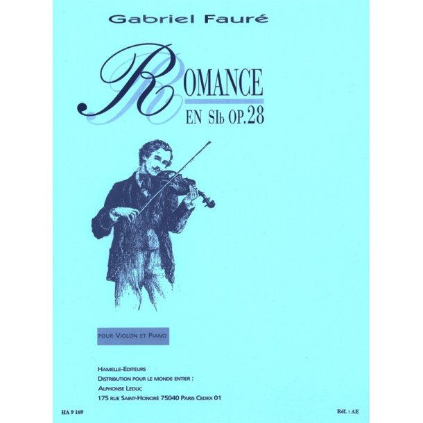 Gabriel Fauré: Romance Op.28 in B flat major (Violin & Piano)