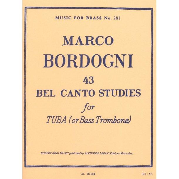Giulio Marco Bordogni: 43 Bel Canto Studies (Trombone-Bass solo)