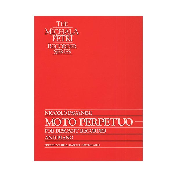 Niccolo Paganini: Moto Perpetuo  (Recorder)