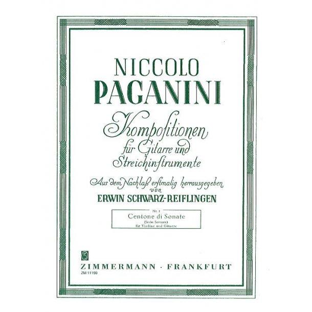 Niccolo Paganini: Centone Di Sonate (Sechs Sonaten)