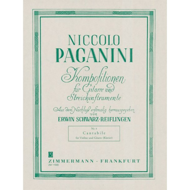 Niccolo Paganini: Cantabile No.8 (Violin/Guitar)