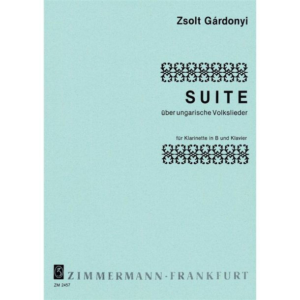 Gardonyi, Z: Suite On Hungarian Folksongs