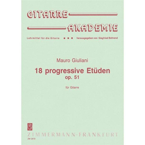 Giuliani: 18 Progressive Studies Op 51