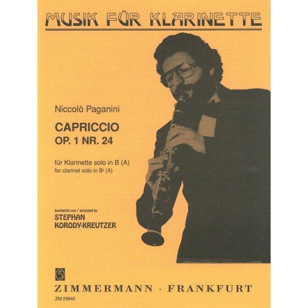 Niccolo Paganini: Capriccio Op.1 No.24 (Clarinet)