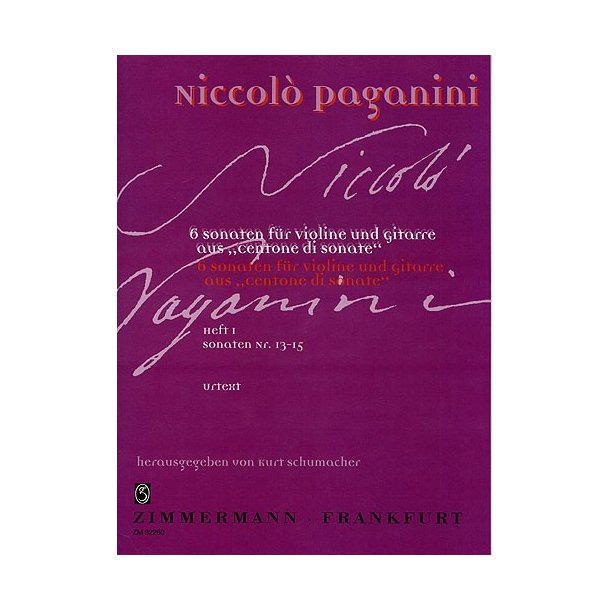Niccolo Paganini: Centone Di Sonate Volume 1 (Violin/Guitar)