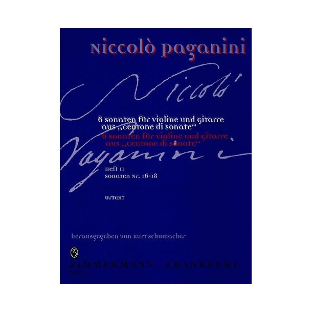Niccolo Paganini: Centone Di Sonate Volume 2 (Violin/Guitar)