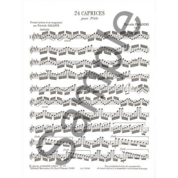 Niccolò Paganini: 24 Caprices Op.1 (Flute Solo)