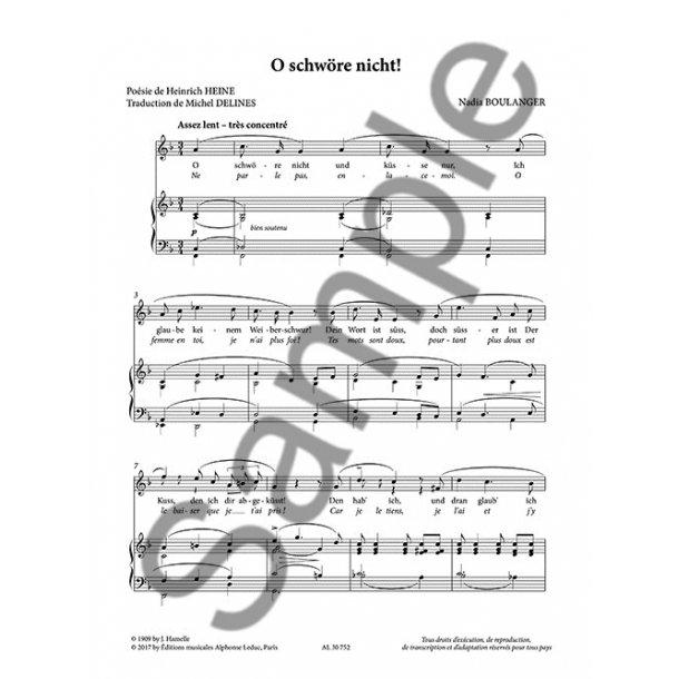 Nadia Boulanger: Mélodies, Volume 2
